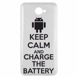 Чехол для Huawei Y7 2017 KEEP CALM and CHARGE BATTERY - FatLine