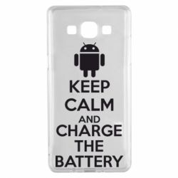 Чехол для Samsung A5 2015 KEEP CALM and CHARGE BATTERY - FatLine