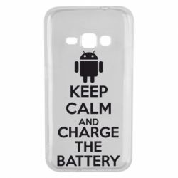 Чехол для Samsung J1 2016 KEEP CALM and CHARGE BATTERY - FatLine