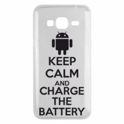 Чехол для Samsung J3 2016 KEEP CALM and CHARGE BATTERY - FatLine