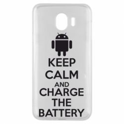 Чехол для Samsung J4 KEEP CALM and CHARGE BATTERY - FatLine