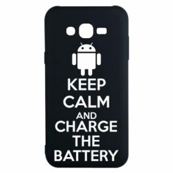 Чехол для Samsung J7 2015 KEEP CALM and CHARGE BATTERY - FatLine