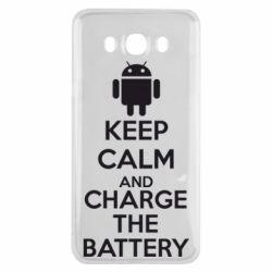 Чехол для Samsung J7 2016 KEEP CALM and CHARGE BATTERY - FatLine