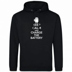 Толстовка KEEP CALM and CHARGE BATTERY
