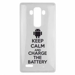 Чехол для LG G4 KEEP CALM and CHARGE BATTERY - FatLine
