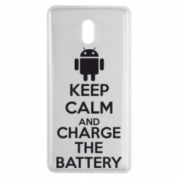 Чехол для Nokia 3 KEEP CALM and CHARGE BATTERY - FatLine