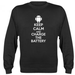 Реглан (свитшот) KEEP CALM and CHARGE BATTERY - FatLine