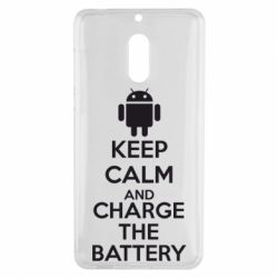Чехол для Nokia 6 KEEP CALM and CHARGE BATTERY - FatLine
