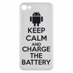 Чехол для Meizu U10 KEEP CALM and CHARGE BATTERY - FatLine
