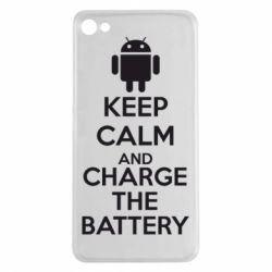Чехол для Meizu U20 KEEP CALM and CHARGE BATTERY - FatLine