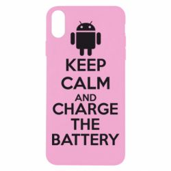 Чехол для iPhone Xs Max KEEP CALM and CHARGE BATTERY - FatLine