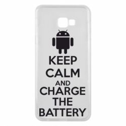 Чехол для Samsung J4 Plus 2018 KEEP CALM and CHARGE BATTERY - FatLine