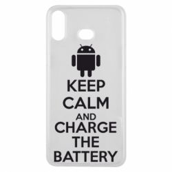 Чехол для Samsung A6s KEEP CALM and CHARGE BATTERY - FatLine