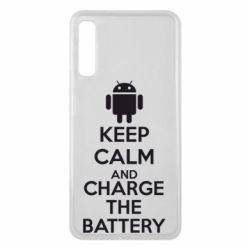 Чехол для Samsung A7 2018 KEEP CALM and CHARGE BATTERY - FatLine