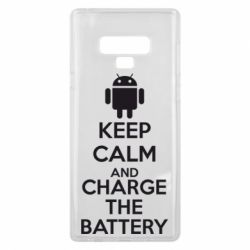 Чехол для Samsung Note 9 KEEP CALM and CHARGE BATTERY - FatLine