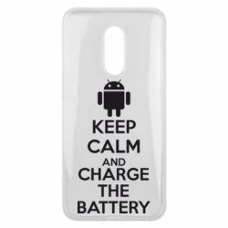 Чехол для Meizu 16 plus KEEP CALM and CHARGE BATTERY - FatLine