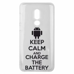 Чехол для Meizu V8 KEEP CALM and CHARGE BATTERY - FatLine
