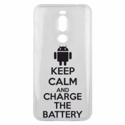 Чехол для Meizu X8 KEEP CALM and CHARGE BATTERY - FatLine