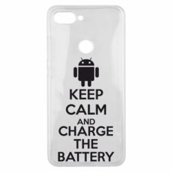 Чехол для Xiaomi Mi8 Lite KEEP CALM and CHARGE BATTERY - FatLine