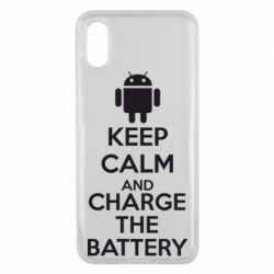 Чехол для Xiaomi Mi8 Pro KEEP CALM and CHARGE BATTERY - FatLine