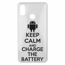Чехол для Xiaomi Mi Max 3 KEEP CALM and CHARGE BATTERY - FatLine