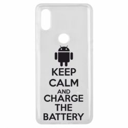 Чехол для Xiaomi Mi Mix 3 KEEP CALM and CHARGE BATTERY - FatLine