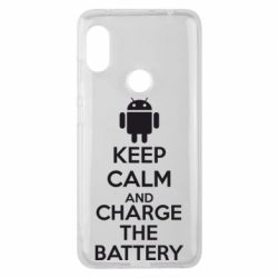 Чехол для Xiaomi Redmi Note 6 Pro KEEP CALM and CHARGE BATTERY - FatLine