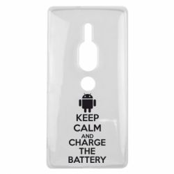 Чехол для Sony Xperia XZ2 Premium KEEP CALM and CHARGE BATTERY - FatLine