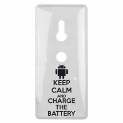 Чехол для Sony Xperia XZ3 KEEP CALM and CHARGE BATTERY - FatLine