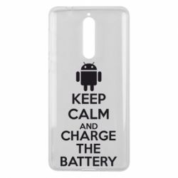 Чехол для Nokia 8 KEEP CALM and CHARGE BATTERY - FatLine