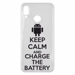 Чехол для Huawei P Smart Plus KEEP CALM and CHARGE BATTERY - FatLine