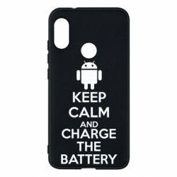 Чехол для Mi A2 Lite KEEP CALM and CHARGE BATTERY - FatLine