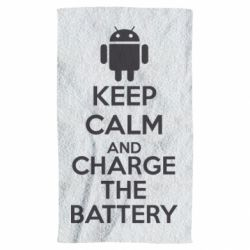 Полотенце KEEP CALM and CHARGE BATTERY - FatLine