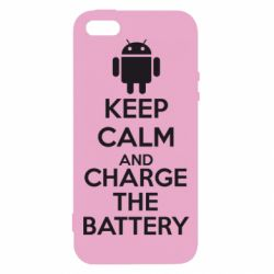 Чехол для iPhone5/5S/SE KEEP CALM and CHARGE BATTERY - FatLine