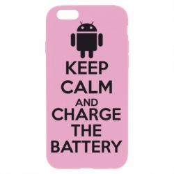Чехол для iPhone 6/6S KEEP CALM and CHARGE BATTERY - FatLine