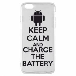 Чехол для iPhone 6 Plus/6S Plus KEEP CALM and CHARGE BATTERY - FatLine
