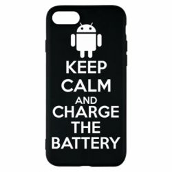 Чехол для iPhone 8 KEEP CALM and CHARGE BATTERY - FatLine