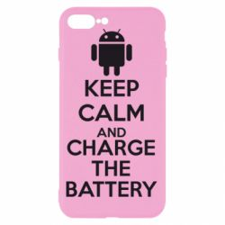 Чехол для iPhone 8 Plus KEEP CALM and CHARGE BATTERY - FatLine