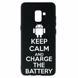 Чехол для Samsung A8+ 2018 KEEP CALM and CHARGE BATTERY - FatLine