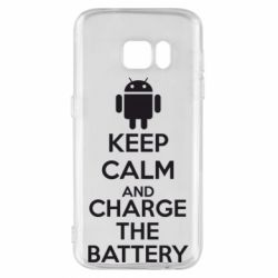 Чехол для Samsung S7 KEEP CALM and CHARGE BATTERY - FatLine