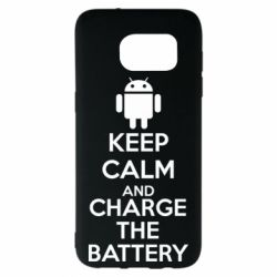 Чехол для Samsung S7 EDGE KEEP CALM and CHARGE BATTERY - FatLine