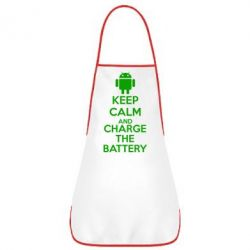 Фартук KEEP CALM and CHARGE BATTERY - FatLine