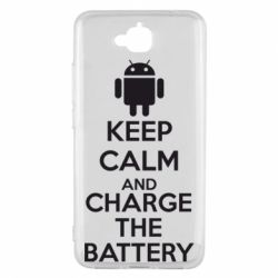 Чехол для Huawei Y6 Pro KEEP CALM and CHARGE BATTERY - FatLine
