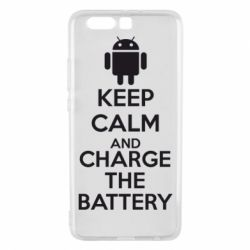 Чехол для Huawei P10 Plus KEEP CALM and CHARGE BATTERY - FatLine