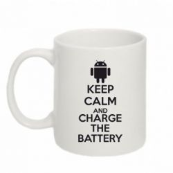 Кружка 320ml KEEP CALM and CHARGE BATTERY - FatLine