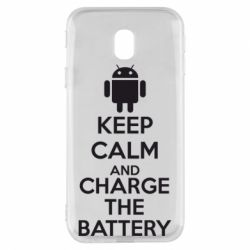 Чехол для Samsung J3 2017 KEEP CALM and CHARGE BATTERY - FatLine