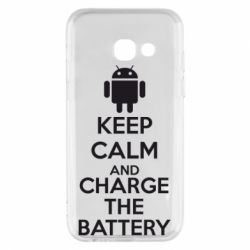 Чехол для Samsung A3 2017 KEEP CALM and CHARGE BATTERY - FatLine