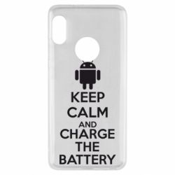 Чехол для Xiaomi Redmi Note 5 KEEP CALM and CHARGE BATTERY - FatLine