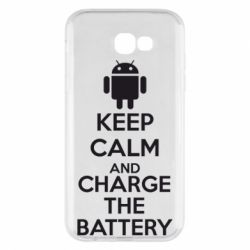 Чехол для Samsung A7 2017 KEEP CALM and CHARGE BATTERY - FatLine