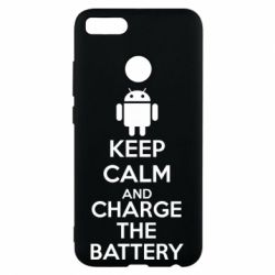 Чехол для Xiaomi Mi A1 KEEP CALM and CHARGE BATTERY - FatLine